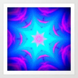 pink & blue starburst Art Print