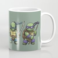 tmnt Mugs featuring TMNT by jeremiah cortez