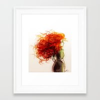 merida Framed Art Prints featuring Merida by AndytheLemon
