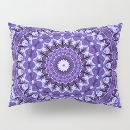 Kaleidoscope Purple Silk Pillow Sham