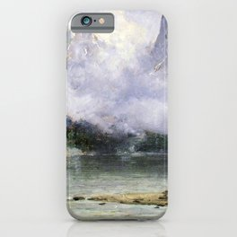 Alaska Scene Near Juneau 1894 By Thomas Hill | Reproduction iPhone Case