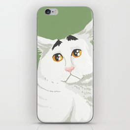 Sam the Cat with Eyebrows iPhone Skin