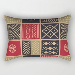 African Ethnic Textile 6 Rectangular Pillow