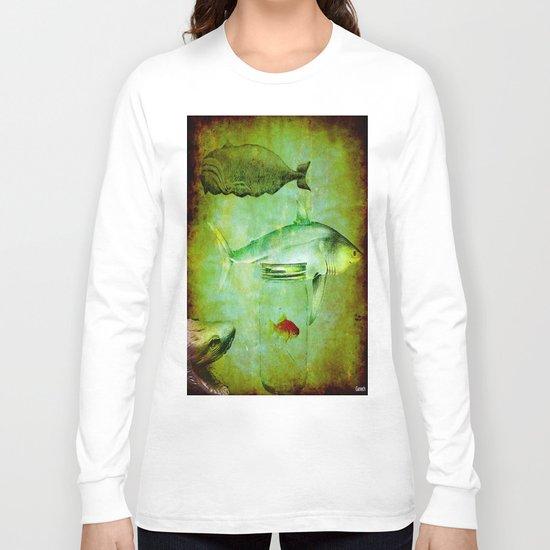Hostile environment for a goldfish Long Sleeve T-shirt