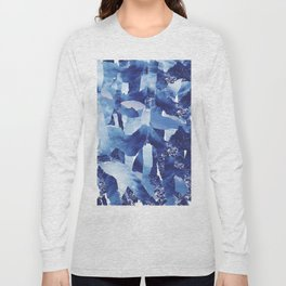 Nautical abstract pattern Long Sleeve T-shirt