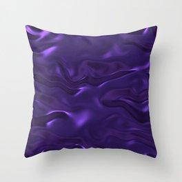 Purple Soft Shiny Silk Pattern Throw Pillow