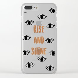 Rise & Shine Clear iPhone Case