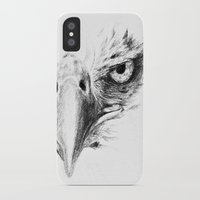 eagle iPhone & iPod Cases featuring Eagle by Anna Shell