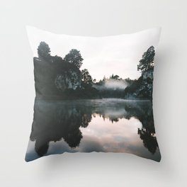 Waikato River II Throw Pillow