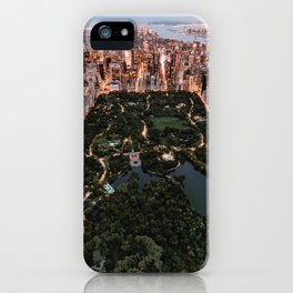 Central Park, New York - Twilight iPhone Case