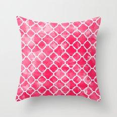 Moroccan Watermelon Throw Pillow
