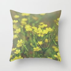 Hello Buttercup! Throw Pillow