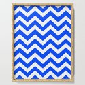 Blue (RYB) - blue color - Zigzag Chevron Pattern by makeitcolorful