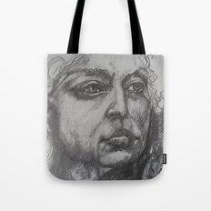 Pencil Sketch of Female Face/Portrait. Graphite Tote Bag