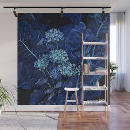 Hydrangea and Horseradish, Summer Plants, Floral Art Wall Mural