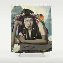 Gloom of a faun Shower Curtain