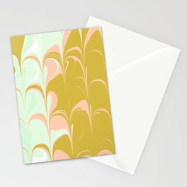 Abstract in Ice Cream Colors Stationery Cards