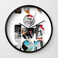 revolution Wall Clocks featuring revolution by Ali GULEC