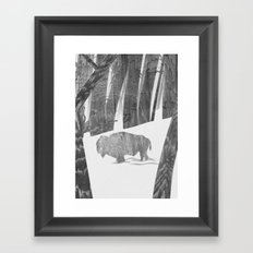 Martwood Bison Framed Art Print