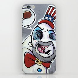 Howdy Folks, Capt Spaulding, Devils Rejects, House of 1,000 Courpses, Sid Haig iPhone Skin
