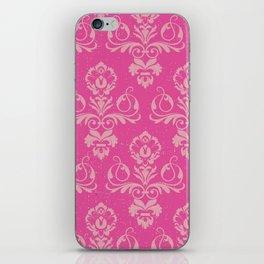 Pink Vintage Damask iPhone Skin