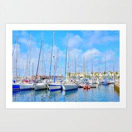 Puerto de Mogan port Art Print