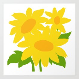 Yellow Green Good Cheer Art Print