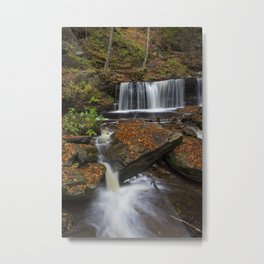 Ricketts Glen Waterfall Metal Print