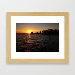 Julep Point Sunset Framed Art Print