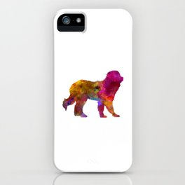 Pyrenean Mountain Dog in watercolor iPhone Case