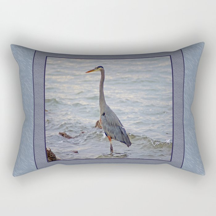 still here wading (square) Rectangular Pillow