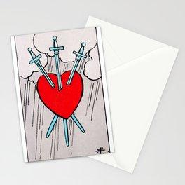 Three of Swords Tarot Stationery Cards