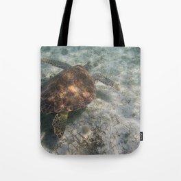 Sea Turtle and Sand Tote Bag