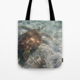 Sea Turtle and Sand Tote Bag