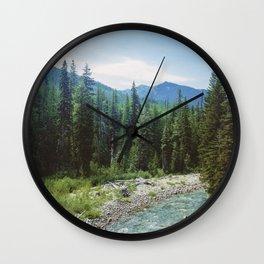PNW River Wall Clock