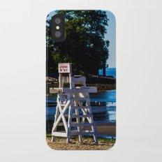 Life guard off duty - enjoy the beach iPhone X Slim Case