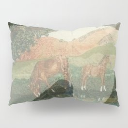 """Horses"" Pillow Sham"