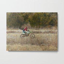 Dirt Bike Riding  Metal Print