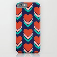 Sweethearts (Red, Pink & Turquoise on Dark Blue) iPhone 6s Slim Case