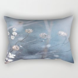 Dusty Fog Flowers Rectangular Pillow