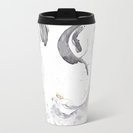 Cloud and Lightening Marble Metal Travel Mug