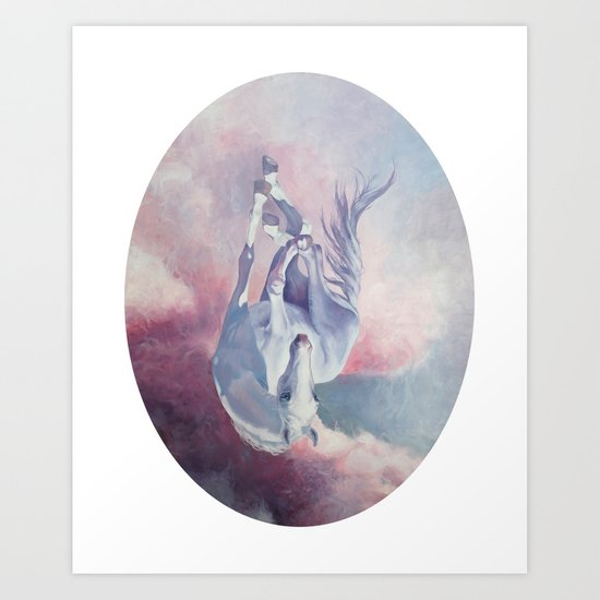 Falling Cloud Art Print