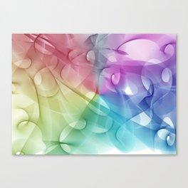 Gentle pattern rainbow Canvas Print