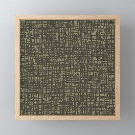 Fibre Mesh Pattern (Dark Beige) Framed Mini Art Print