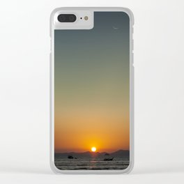 Sunset over the Andaman Sea Clear iPhone Case