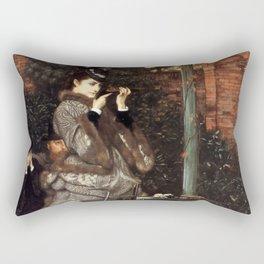 At the Rifle Range - Vintage Victorian Retro Fine Art Oil Painting Rectangular Pillow