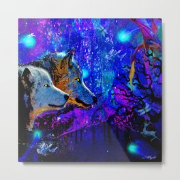 WOLF DREAMS AND VISIONS Metal Print