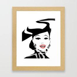 SmilingLipstick Framed Art Print