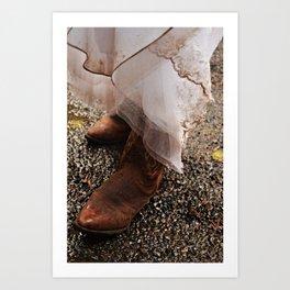 Muddy Country Wedding Art Print
