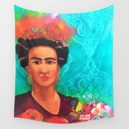 Frida Fragil y fuerte Wall Tapestry